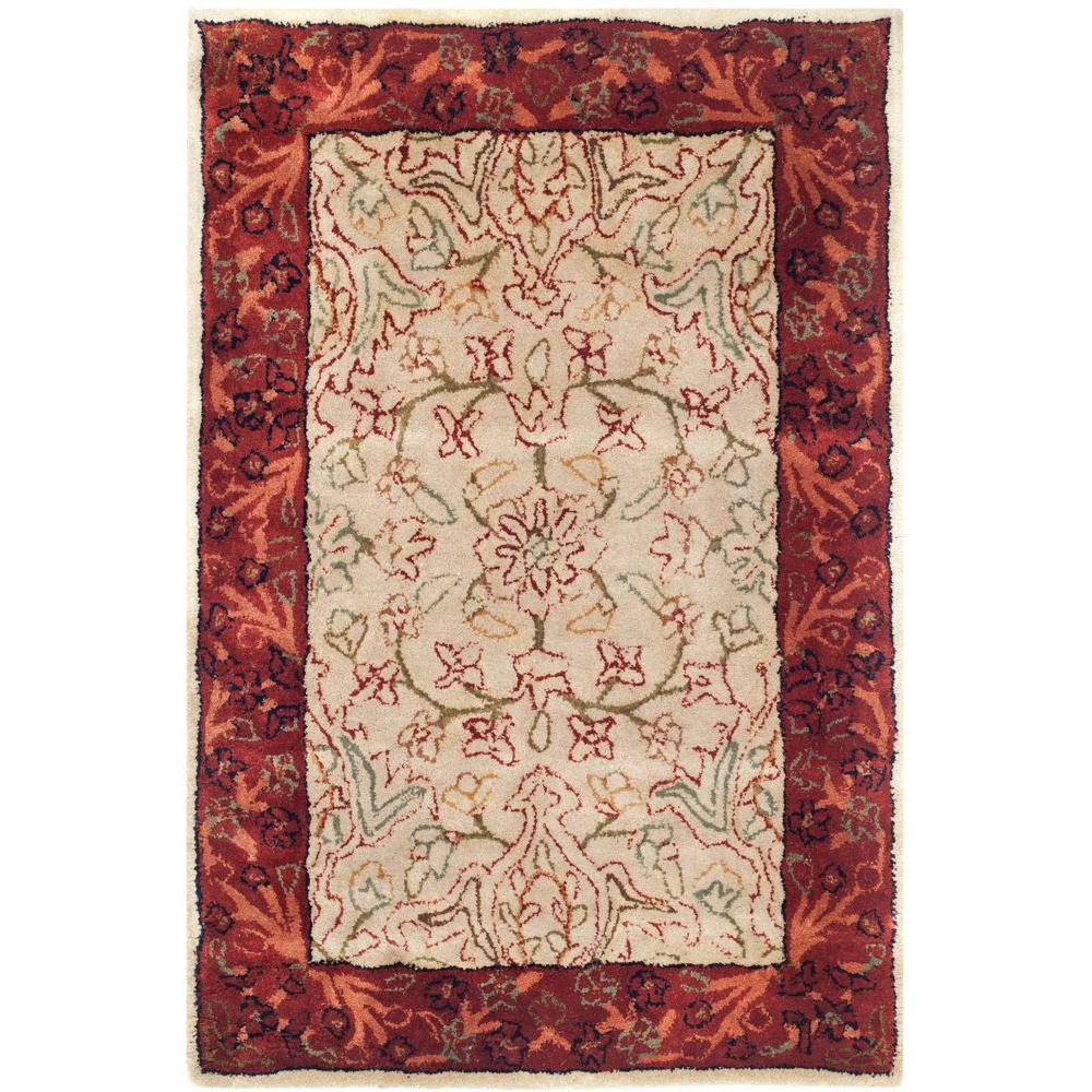 Shop Safavieh Handmade Persian Legend Ivory Rust Wool Area: Safavieh Persian Legend Ivory/Rust 2 Ft. X 3 Ft. Area Rug