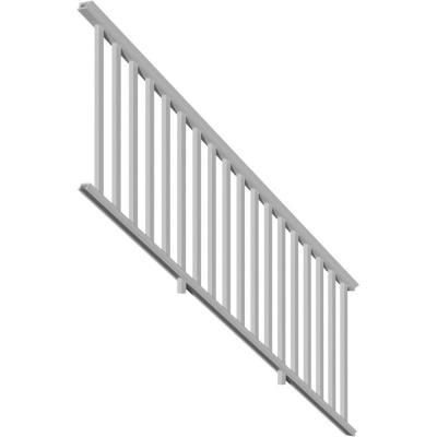 96 in. x 36 in. PVC Providence Stair Rail Kit with Reinforcements