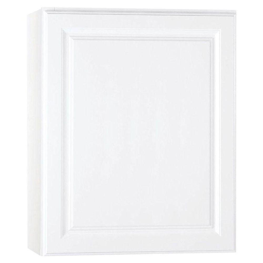 Hampton Bay Hampton Assembled 24x30x12 in. Wall Kitchen Cabinet in Satin White
