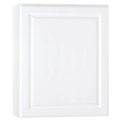 Hampton Assembled 24x30x12 in. Wall Kitchen Cabinet in Satin White