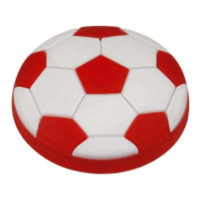Kids Corner Soccer Ball 1-5/8 in. Multi-Colored Metal Cabinet Knob