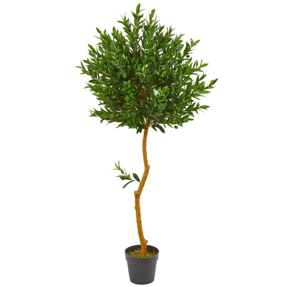 58 in. Indoor/Outdoor Olive Topiary Artificial Tree
