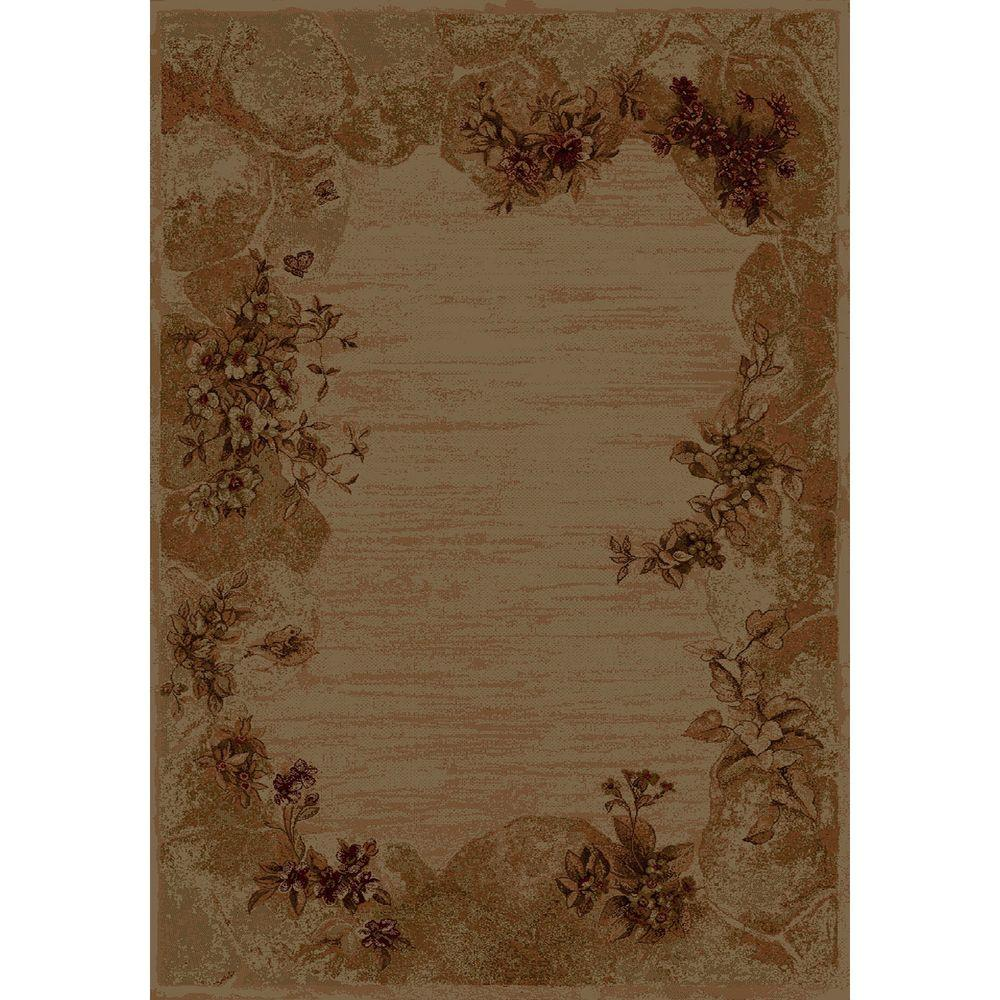 United Weavers Summer Breeze Burgundy 7 ft. 10 in. x 10 ft. 6 in. Transitional Area Rug
