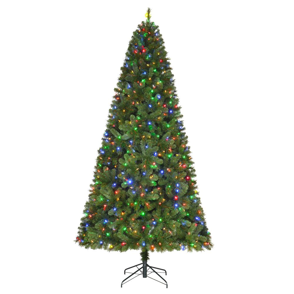 pre lit led wesley spruce artificial christmas tree with - Already Decorated Christmas Trees