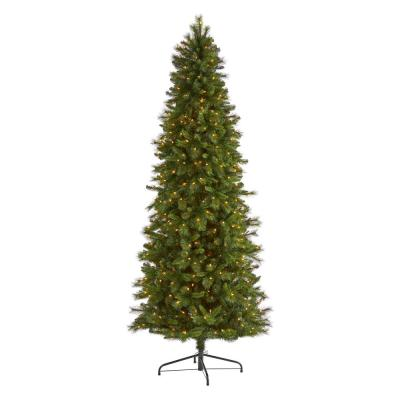 9 ft. Pre-Lit Slim West Virginia Mountain Pine Artificial Christmas Tree with 600 Clear Lights