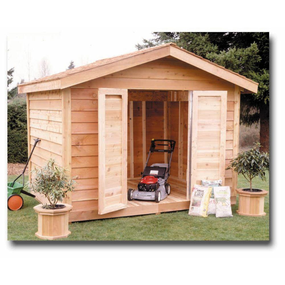 Star Lumber Deluxe 12 ft. x 8 ft. Cedar Storage Shed-DISCONTINUED