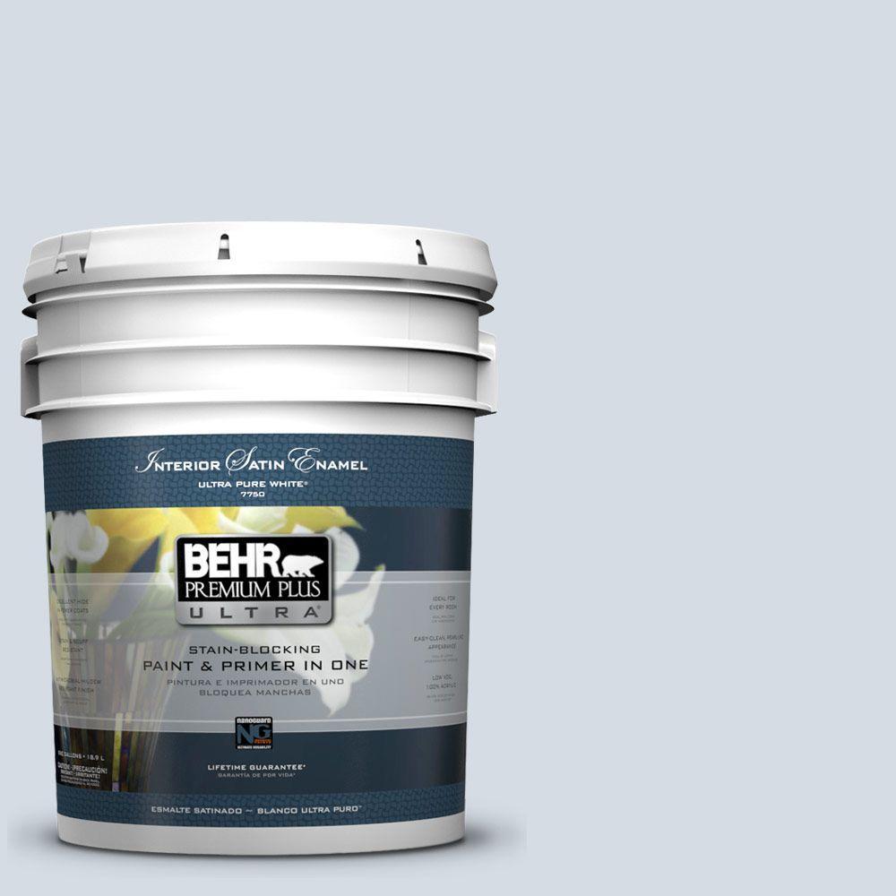 5-gal. #610E-3 Drowsy Lavender Satin Enamel Interior Paint