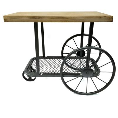 Black and Brown Industrial Design End Table