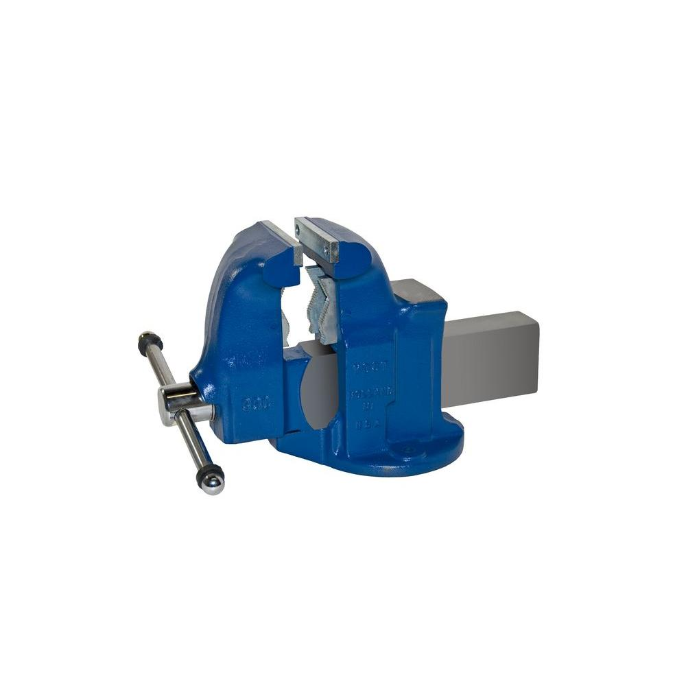 5 in. Heavy-Duty Combination Pipe and Bench Vise - Stationary Base