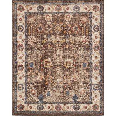 Arcadia Light Brown 8 ft. x 10 ft. Area Rug