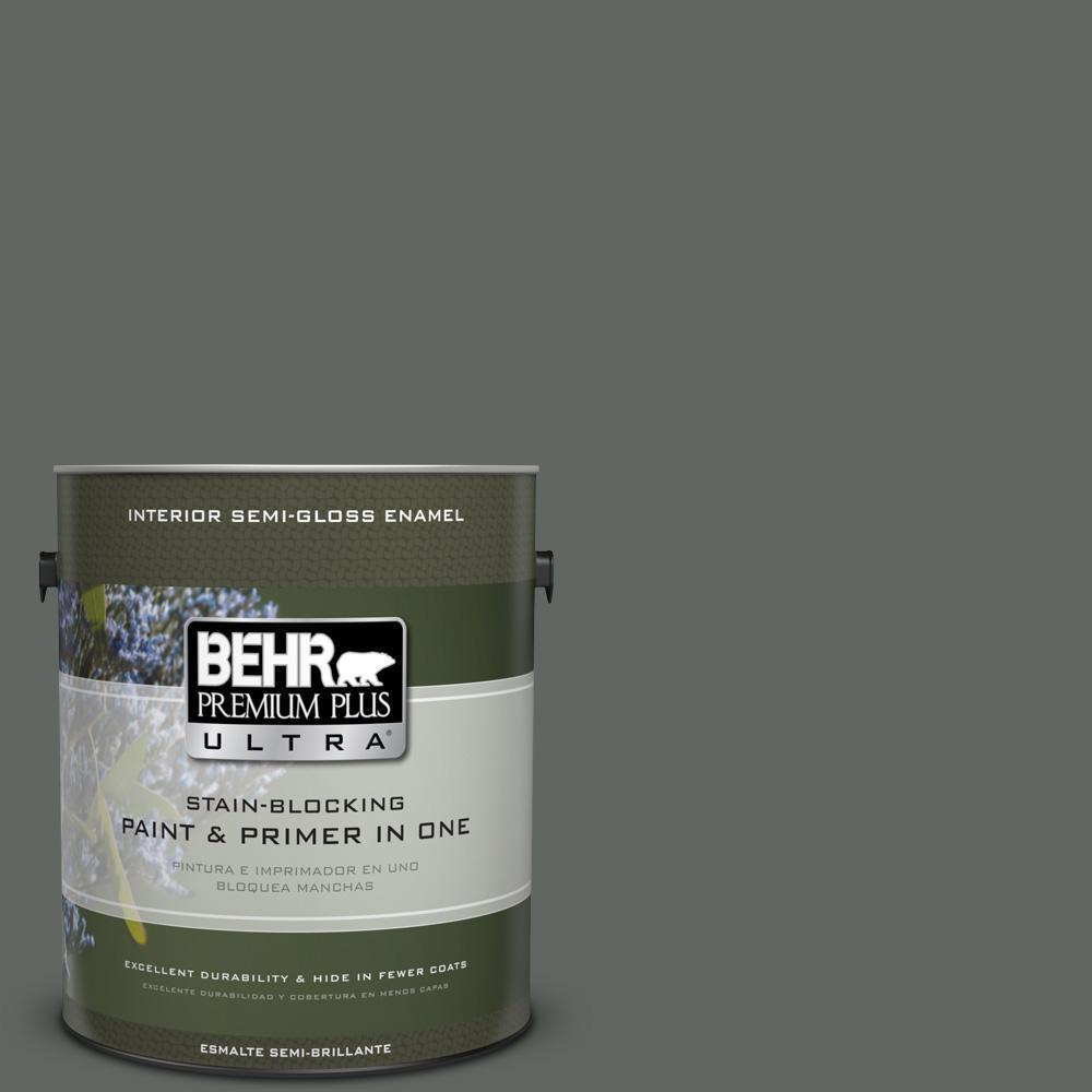 1 gal. #PPU25-02 Black Locust Semi-Gloss Enamel Interior Paint
