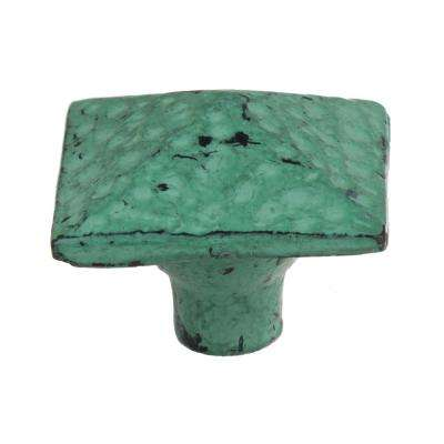 1-1/2 in. Turquoise Square Pyramid Cabinet Drawer Knob (10-Pack)