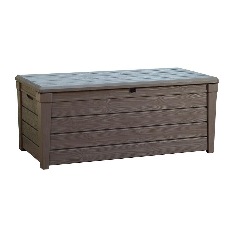 Keter Brightwood 120 gal. Deck Box in Taupe