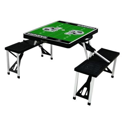 Oakland Raiders Sport Plastic Outdoor Patio Picnic Table