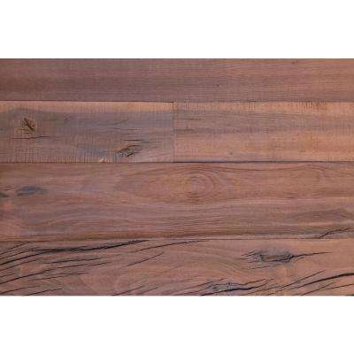 "3D Holey Wood ""50"", 28 in. x 12 in. Reclaimed Wood Decorative Wall Panel in Brown Color (10-Pack)"
