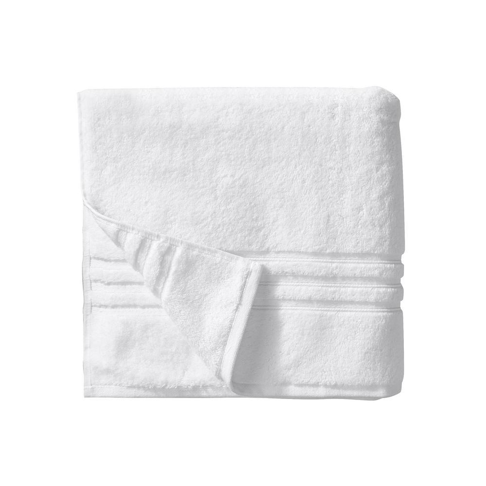 Turkish Cotton Ultra Soft Bath Towel in White