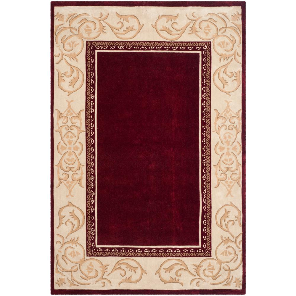 Safavieh Total Performance Burgundy Ivory 6 Ft X 9 Ft Area Rug