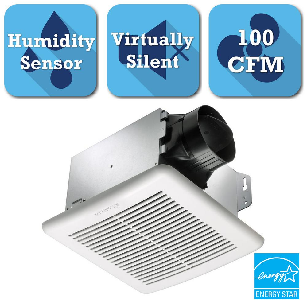 GreenBuilder Series 100 CFM Ceiling Bathroom Exhaust Bath Fan with Adjustable