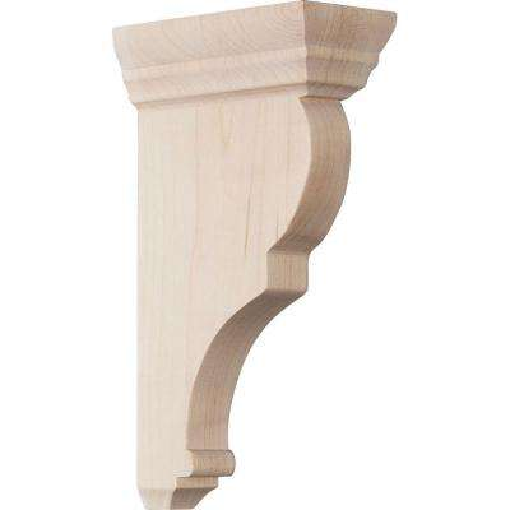 2 in. x 8 in. x 4-1/2 in. Rubberwood Small Rojas Wood Corbel