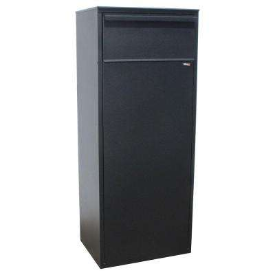 Black Freestanding Locking Mail/Parcel Drop Box