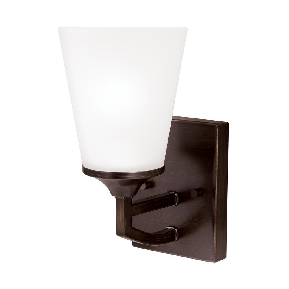 Hanford 1-Light Burnt Sienna Sconce with LED Bulb