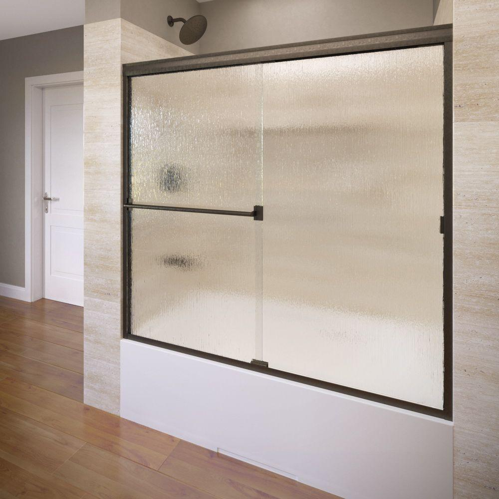 Basco Classic 60 in. x 57 in. Semi-Framed Sliding Tub Door in Oil Rubbed Bronze