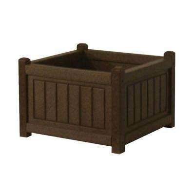 Nantucket 17 in. x 17 in. Brown Recycled Plastic Commercial Grade Planter Box