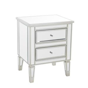 Deals on Noble House Craferd Mirrored 2-Drawer Accent Table