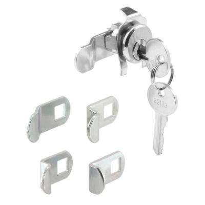 Mailbox Lock, 5 Cam, Nickle Finish, ILCO 1003M Keyway, Opens Counter-Clockwise, 90 Degree Rotation