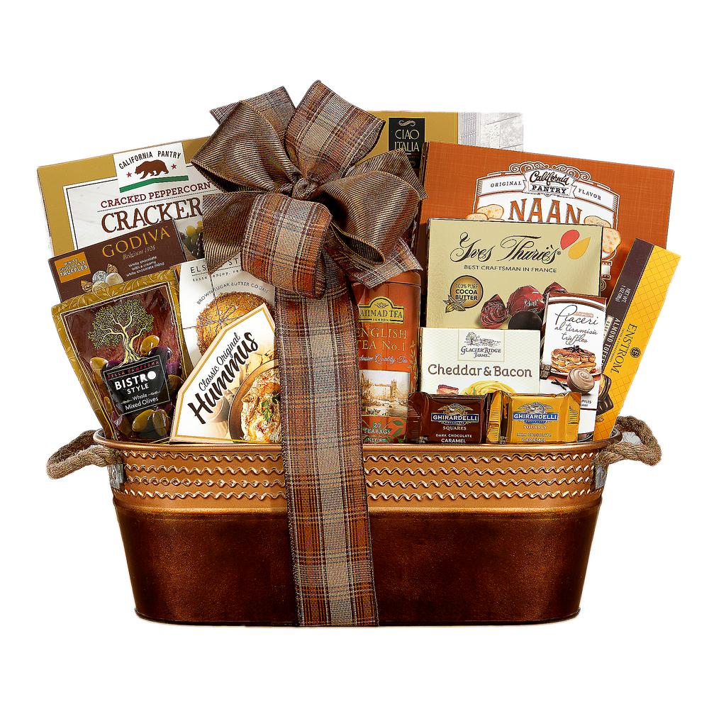 The Connoisseur Gourmet Gift Basket  sc 1 st  The Home Depot & Wine Country Gift Baskets The Connoisseur Gourmet Gift Basket-517 ...