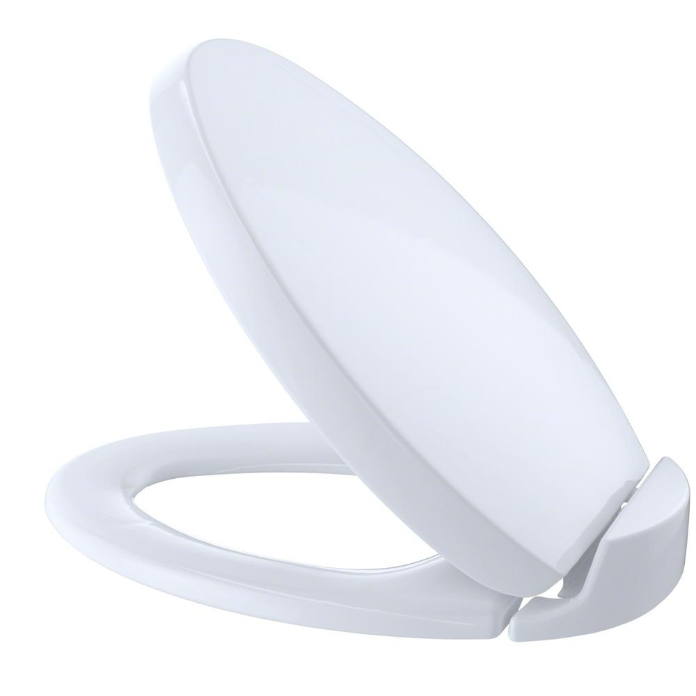 Cool Toto Oval Softclose Elongated Closed Front Toilet Seat In Cotton White Machost Co Dining Chair Design Ideas Machostcouk