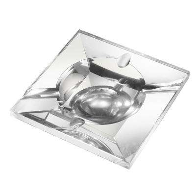 Kratos Square Crystal Cigar Ashtray
