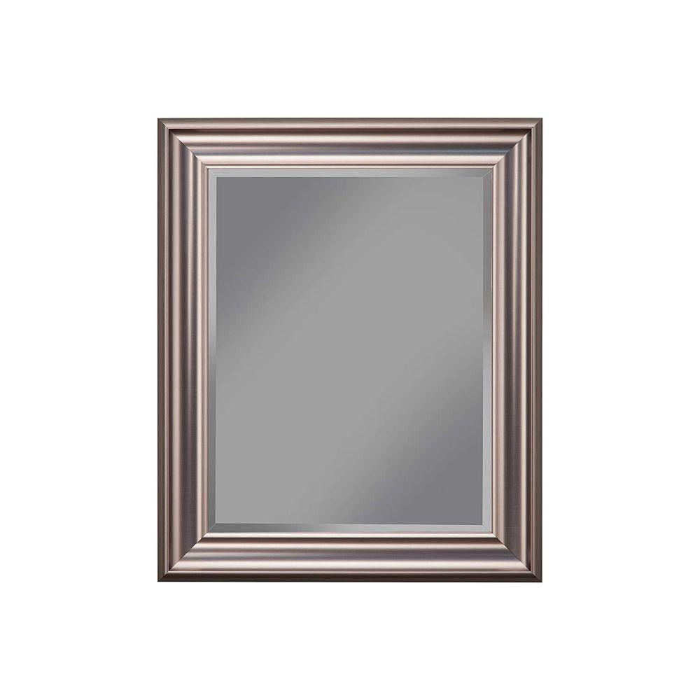 Medium Rectangle Silver Modern Mirror (30 in. H x 2 in. W)