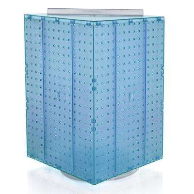 20 in. H x 14 in. W Interlock Pegboard Tower on a Revolving Base in Blue