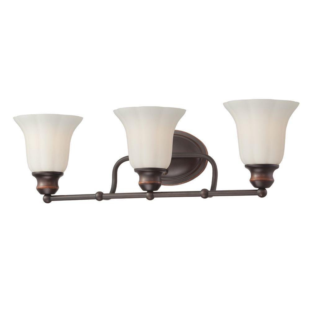 Eurofase Fountaine Collection 3 Light Oil Rubbed Bronze Bath Bar Light 23050 037 The Home Depot