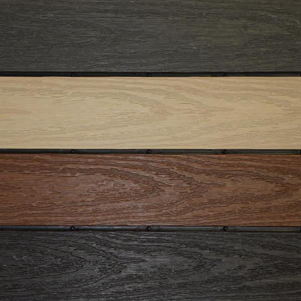 UltraShield Naturale 1 ft. x 1 ft. Composite Quick Deck Outdoor Deck Tile Sample in Multi-Color