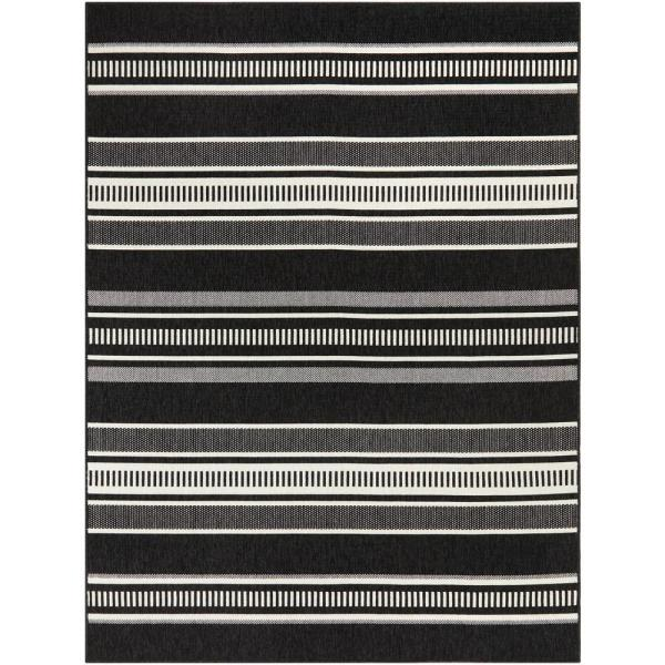 Hampton Bay Multi Stripes Black/White 8