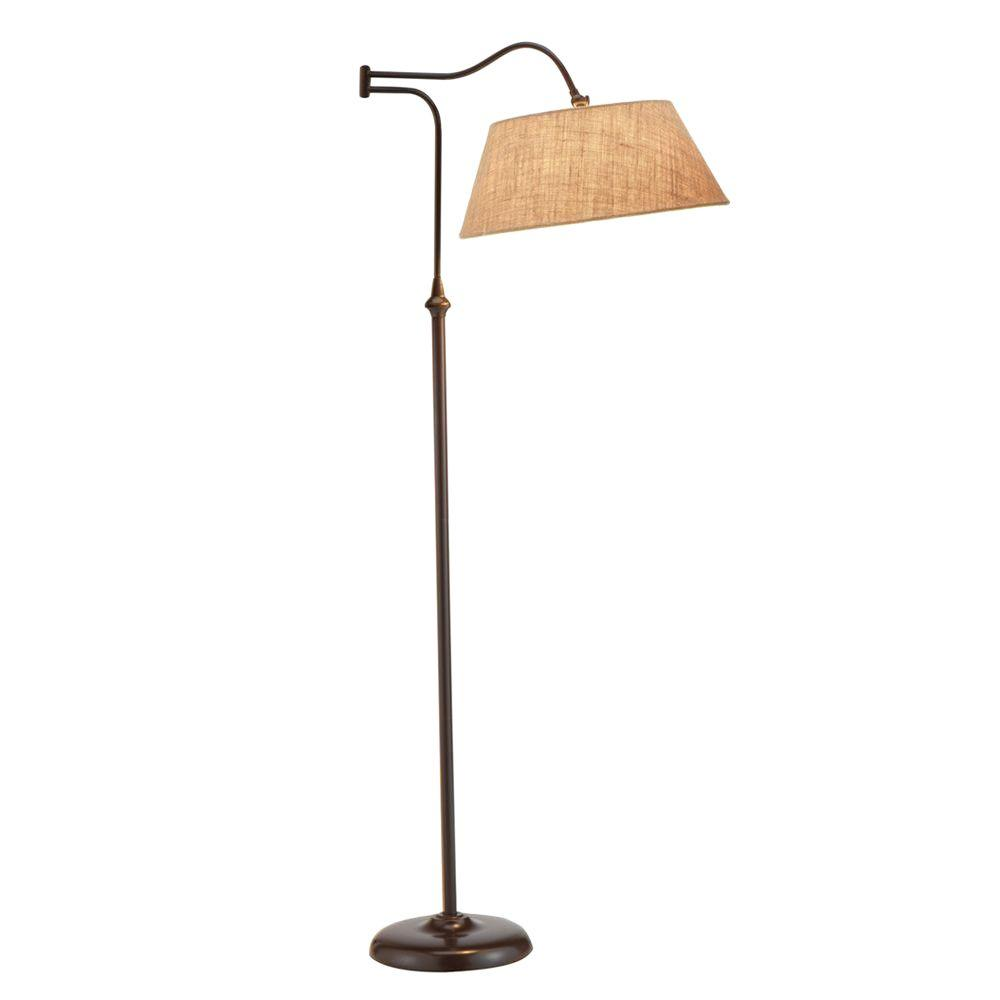 Adesso Rodeo 61 in. H Antique Bronze Floor Lamp