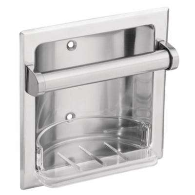 Commercial Recessed Soap Holder in Chrome