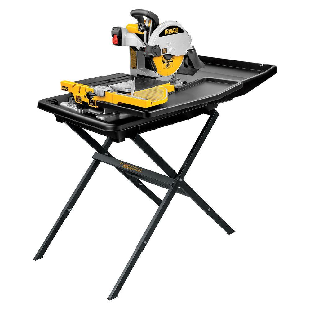 DEWALT In Wet Tile Saw With StandDS The Home Depot - Dewalt wet saw pump
