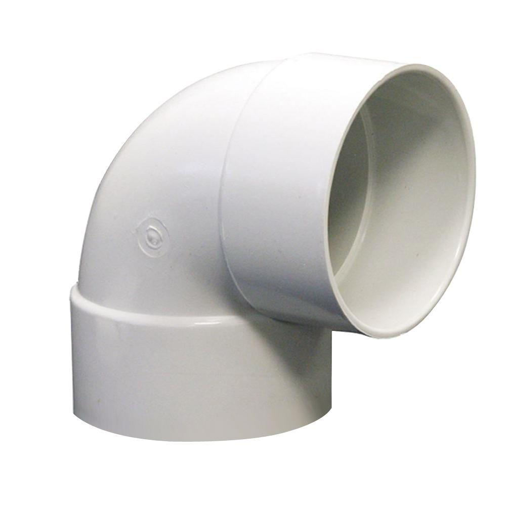 NDS 6 in. PVC Sewer and Drain 90-Degree Hub x Hub Elbow