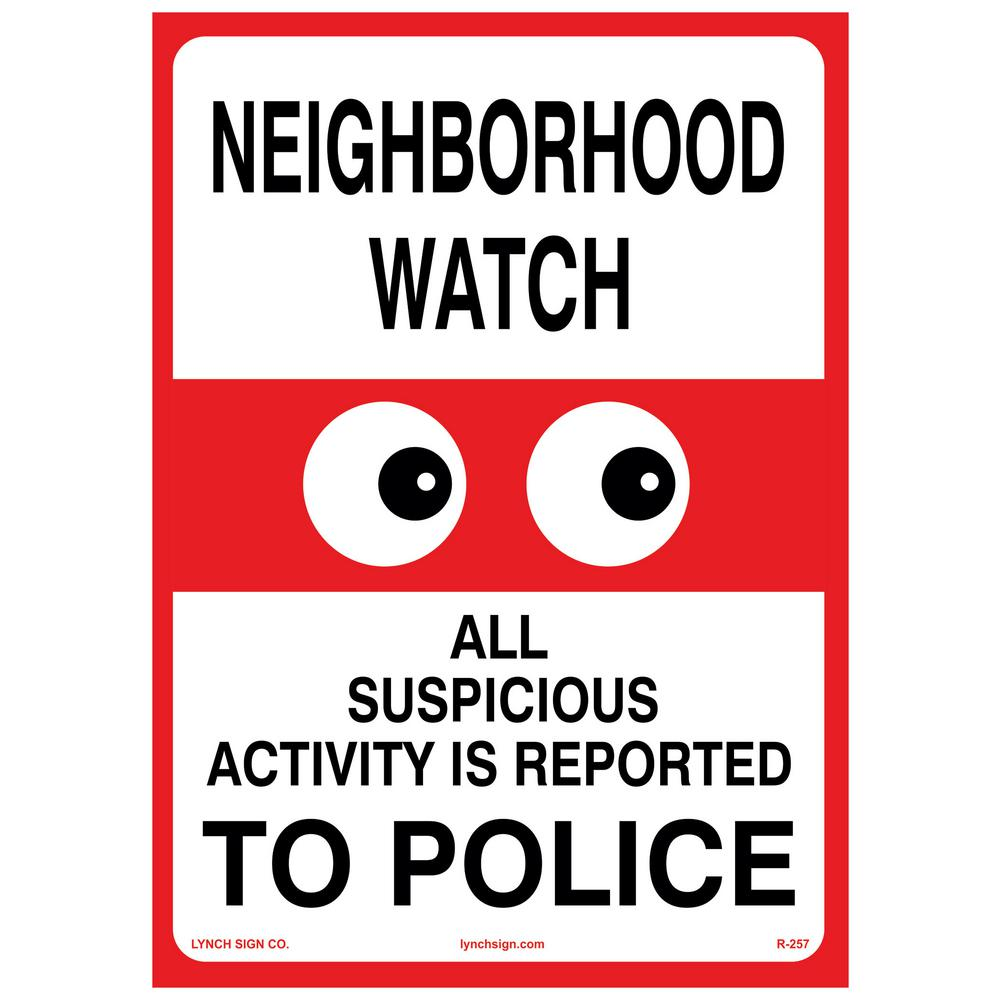 10 in. x 14 in. Neighborhood Watch Sign Printed on More