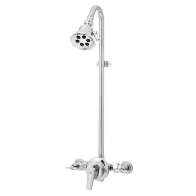 Anystream Vintage 3-Spray Wall Bar Shower Kit in Polished Chrome (Valve Included)