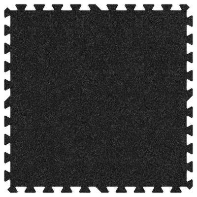 Charcoal 24 in. x 24 in. Comfortable Carpet Mat (100 sq. ft. / Case)