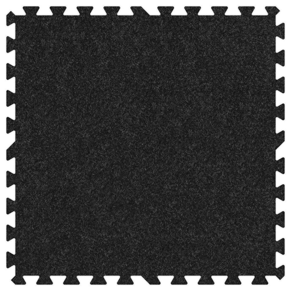 Groovy Mats Charcoal 24 in. x 24 in. Comfortable Carpet Mat (100 sq. ft. / Case)