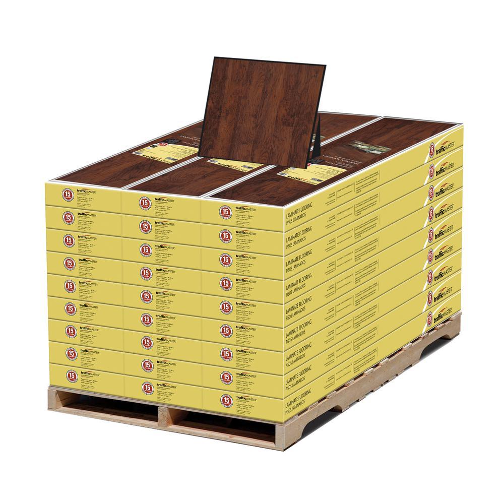 Dark Brown Hickory 7 mm T x 8-1/32 in. W x 47-5/8 in. L Laminate Flooring (645.57 sq. ft. / pallet)
