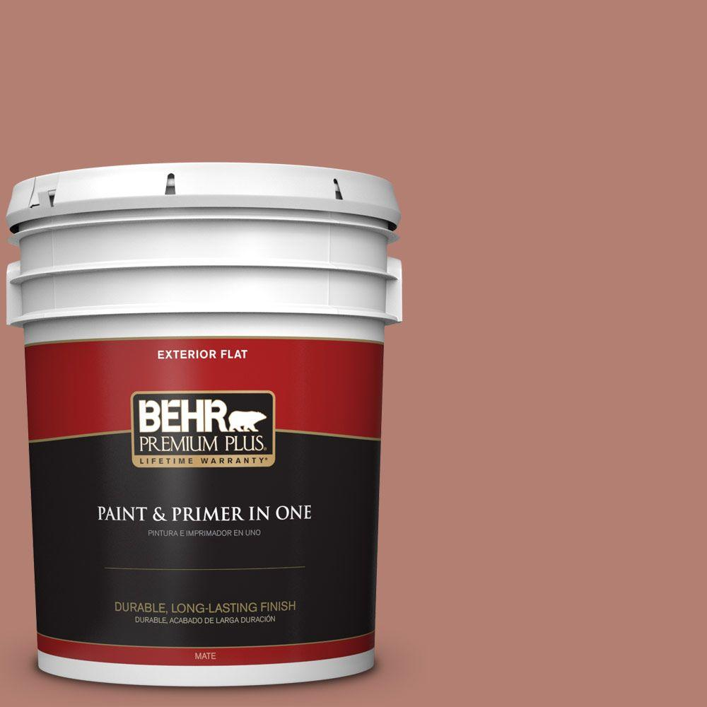 BEHR Premium Plus 5-gal. #icc-102 Copper Pot Flat Exterior Paint, Reds/Pinks