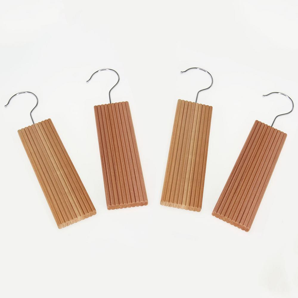 Natural Eastern Red Cedar With Lavender Closet Hangers Hook 4 Pack
