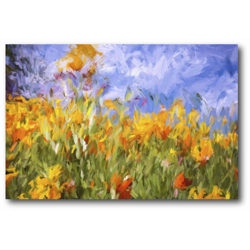 Impasto Poppies Canvas Wall Art-WEB-SG303B - The Home Depot