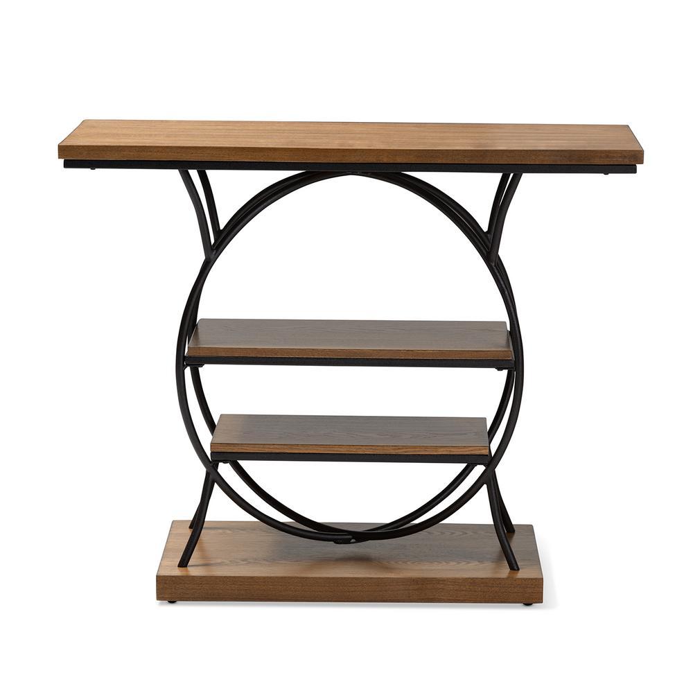 Incredible Baxton Studio Lavelle Walnut And Bronze Console Table 153 Spiritservingveterans Wood Chair Design Ideas Spiritservingveteransorg